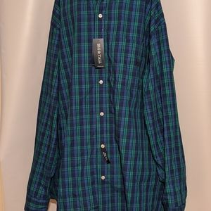 Chaps Easy Care Mens Big & and Tall Shirt Size 3XB